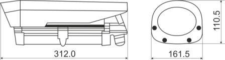 Размеры ip-видеокамеры MDC-i6221tdnw-66H MicroDigital