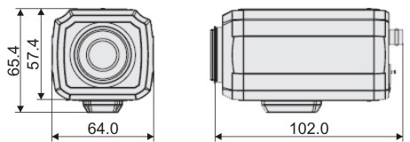 Видеорекамера MDC-H4260C - размеры