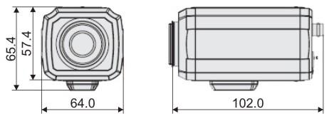 Видеорекамера MDC-H4290C - размеры