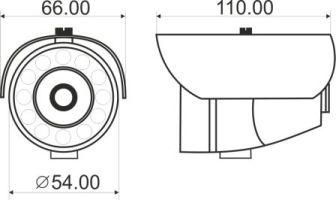 Видеорекамера MDC-6220F-24 - размеры